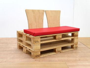 Sitzbank aus Paletten